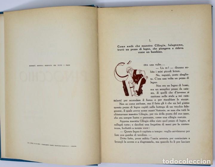 Libros de segunda mano: LE AVVENTURE DI PINOCCHIO-ILUSTRAZIONI DI PIERO BERNARDINI- BEMPORAD MARZOCCO-1960 FIRENZE - Foto 4 - 138108790
