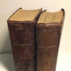 Libros de segunda mano: PORTS MARITIMES *** DE CORDEMOY *** LOTE DOS TOMOS AÑO 1907. Lote 138891258
