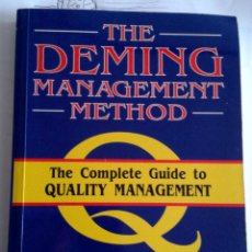 Libros de segunda mano: THE DEMING MANAGEMENT METHOD. MARY WALTON. Lote 139059374