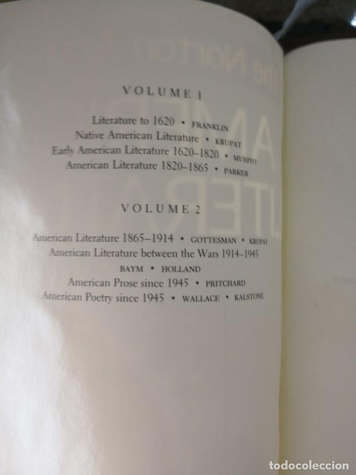 Libros de segunda mano: The Norton anthology literatura americana fourth edition. 2530 páginas. Tapa blanda - Foto 3 - 139979574