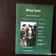 Libros de segunda mano: KING LEAR- WILLIAM SHAKESPEARE. FOLENS EDITION FOR STUDENT. COMO NUEVO. Lote 140967414