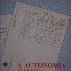 Libros de segunda mano: A AUTONOMÍA GALEGA (1846 -1981). XUNTA DE GALICIA.. Lote 141690798