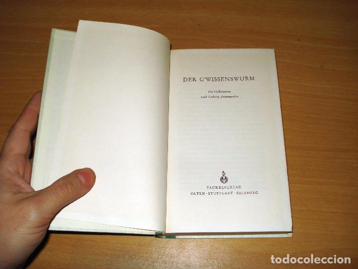 Libros de segunda mano: DER G'WISSENSWURM (EIN VOLKSROMAN). FACKELVERLAG. AÑO 1954. ALEMÁN - Foto 4 - 142098894