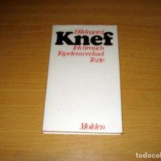 Libros de segunda mano: ICH BRAUCH TAPETENWECHSEL TEXTE (HILDEGARD KNEF). MOLDEN. AÑO 1978. ALEMÁN.. Lote 155824965