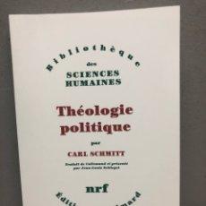 Libros de segunda mano: THÉOLOGIE POLOTIQUE POR CARL SCHMITT. Lote 143412977