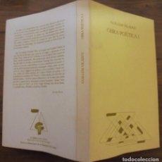 Libros de segunda mano: OBRA POÈTICA I GUILLEM VILADOT LLIBRES DEL MALL BARCELONA 1986 . Lote 152033341