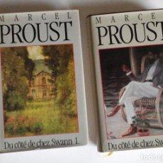 Libros de segunda mano: MARCEL PROUST, DU CÔTÉ DE CHEZ SWANN. EDICIÓN EN 2 TOMOS. FRANCE LOISIRS, 1988. Lote 144481002