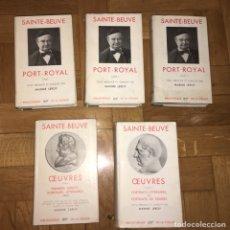 Libros de segunda mano: SAINTE-BEUVE PORT-ROYAL Y OEUVRES 5 TOMOS PLÉIADE. Lote 144993070
