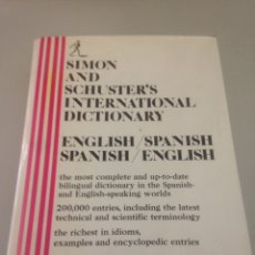 Libros de segunda mano: SIMÓN AND SCHUSTER'S INTERNARIONAL DICTIONARY. Lote 146309569