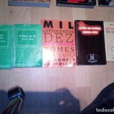 Libros de segunda mano: 5 LIBROS EN GALLEGO: 4 DE NARRATIVA Y 1 DE NOMBRES EN GALLEGO. Lote 146662598