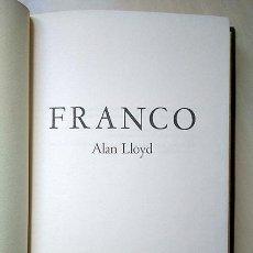 Libros de segunda mano: FRANCO - ALAN LLOYD. FRANCISCO FRANCO BAHAMONDE - 1ª ED, NEW YORK, 1969. PEDIDO MÍNIMO 6 €. Lote 146918562