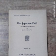 Libros de segunda mano: MFF.- ITHE JAPANESE DOLL BY JEAN GARSTANG.- H. F. W. DEANE & SONS LTD.- 1964.- 30 PAGINAS. Lote 147638874