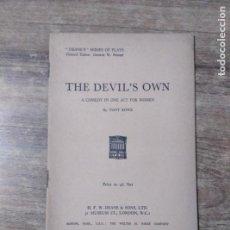 Libros de segunda mano: MFF.- THE DEVIL'S OWN BY TONY ROWE.- H. F. W. DEANE & SONS LTD.- 1959.- 27 PAGINAS.-. Lote 147641566