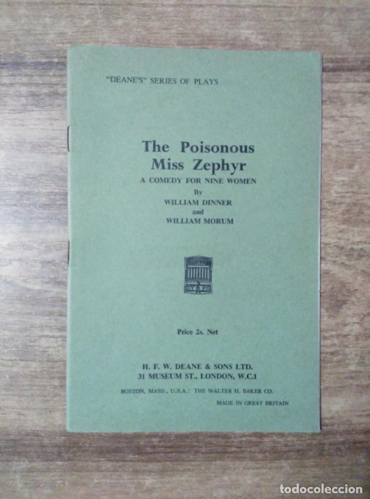 MFF.-THE POISONOUS MISS ZEPHYR BY WILLIAM DINNER AND WILLIAM MORUM.- H. F. W. DEANE & SONS LTD.- (Libros de Segunda Mano - Otros Idiomas)