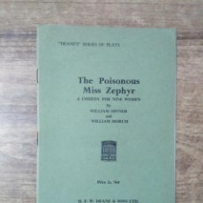 Libros de segunda mano: MFF.-THE POISONOUS MISS ZEPHYR BY WILLIAM DINNER AND WILLIAM MORUM.- H. F. W. DEANE & SONS LTD.- . Lote 147758554