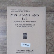 Libros de segunda mano: MFF.- MRS. ADAMS AND EVE BY NEILSON GATTEY AND BRAMLEY-MOORE.- H. F. W. DEANE & SONS LTD.- . Lote 147759238