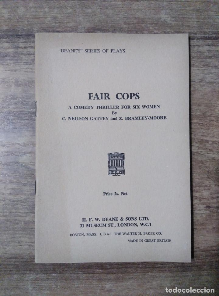 MFF.- FAIR COPS BY NEILSON GATTEY AND BRAMLEY-MOORE.- H. F. W. DEANE & SONS LTD.- 1965.- 27 PAGINAS (Libros de Segunda Mano - Otros Idiomas)