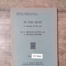 Libros de segunda mano: MFF.- IN THE MAZE BY NEILSON GATTEY AND BRAMLEY-MOORE.- H. F. W. DEANE & SONS LTD.- 1953.-30 PAG. Lote 147759942
