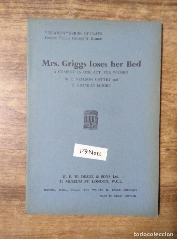 MFF.- MRS. GRIGGS LOS BY NEILSON GATTEY AND BRAMLEY-MOORE.- H. F. W. DEANE & SONS LTD.- 1953.- (Libros de Segunda Mano - Otros Idiomas)