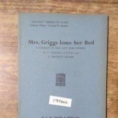 Libros de segunda mano: MFF.- MRS. GRIGGS LOS BY NEILSON GATTEY AND BRAMLEY-MOORE.- H. F. W. DEANE & SONS LTD.- 1953.-. Lote 147760178