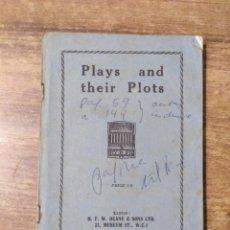 Libros de segunda mano: MFF.- PLAYS AND THEIR PLOTS.- H. F. W. DEANE & SONS LTD.- SIN FECHA.- 165 PAGINAS.-. Lote 147761910