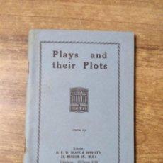 Libros de segunda mano: MFF.- PLAYS AND THEIR PLOTS.- H. F. W. DEANE & SONS LTD.- SIN FECHA.- 165 PAGINAS.-. Lote 147762266