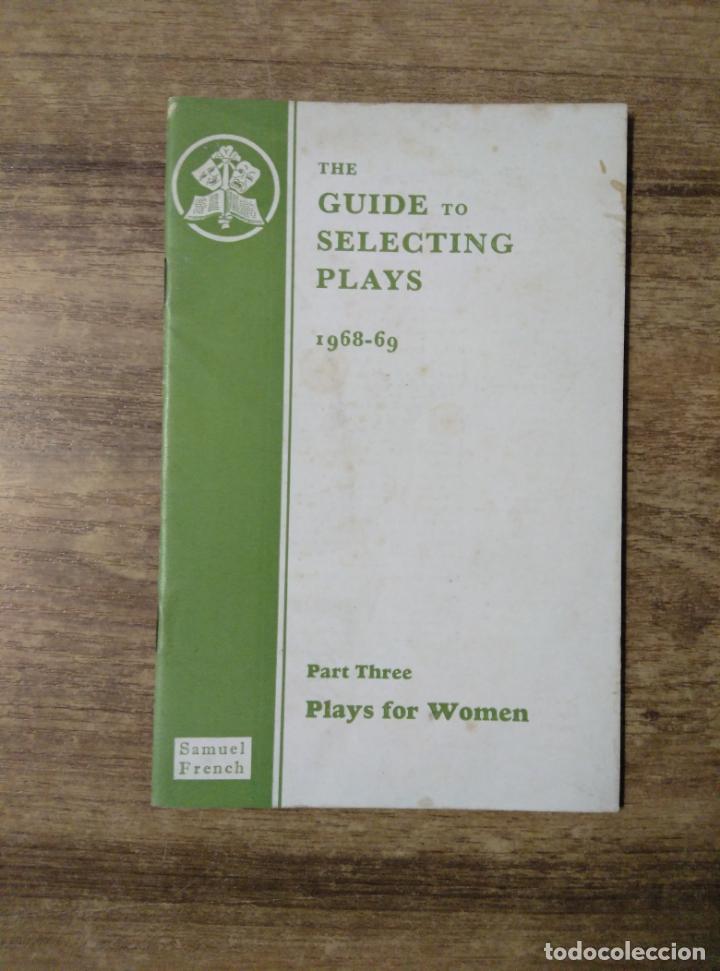 MFF.- THE GUIDE TO SELECTING PLAYS 1968-69.- SAMUEL FRENCH LTD.- 1963.- 26 PAGINAS.- LAMINA Y DIBUJO (Libros de Segunda Mano - Otros Idiomas)