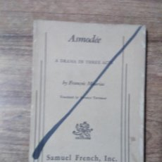 Libros de segunda mano: MFF.- ASMODEE BY FRANCOIS MAURIAC.-SAMUEL FRENCH INC..- 1957.-94 PAGINAS.-. Lote 148078370