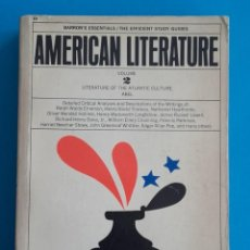 Libros de segunda mano: AMERICAN LITERATURE VOLUME 2. ATLANTIC CULTURE. DARREL ABEL. BARRON'S EDUCATIONAL SERIES. 1963. . Lote 148799998
