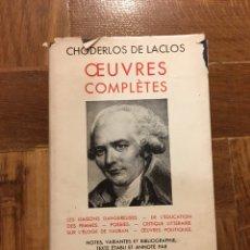 Libros de segunda mano: OEUVRES COMPLÈTES LACLOS ED PLÉIADE. Lote 149086433