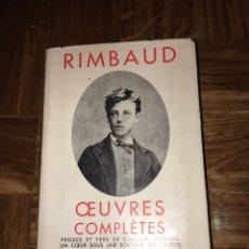 Libros de segunda mano: RIMBAUD. OEUVRES COMPLÈTES. ED PLÉIADE. Lote 149294713