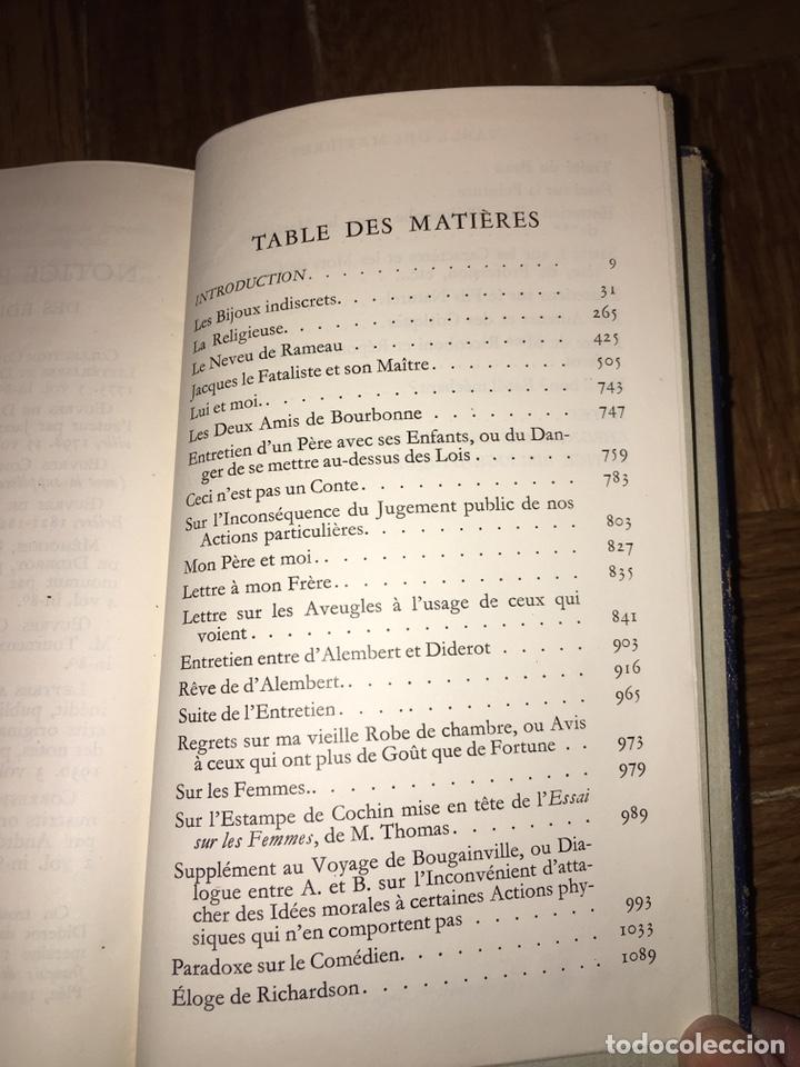 Libros de segunda mano: Diderot. Oeuvres. Ed Pléiade - Foto 6 - 149299302