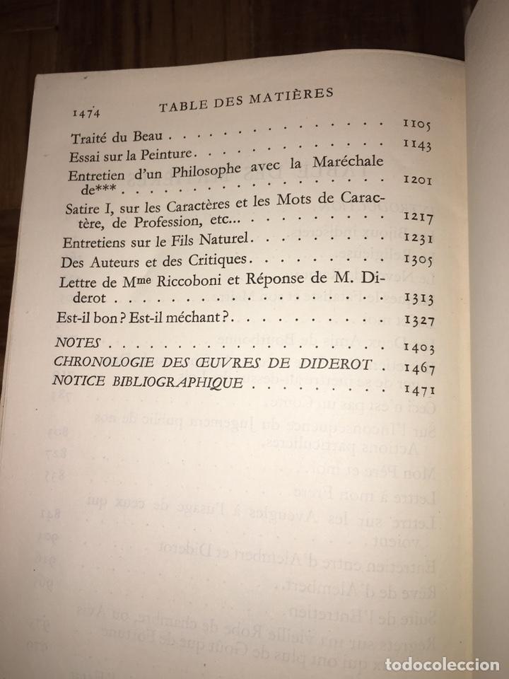 Libros de segunda mano: Diderot. Oeuvres. Ed Pléiade - Foto 7 - 149299302
