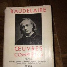 Libros de segunda mano: BAUDELAIRE OEUVRES COMPLÈTES ED PLÉIADE. Lote 149303144