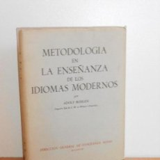 Libros de segunda mano: METODOLOGÍA EN LA ENSEÑANZA DE LOS IDIOMAS MODERNOS, ADOLF BOHLEN. Lote 149375174