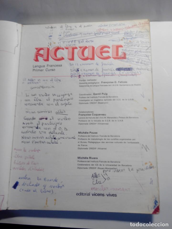 Libros de segunda mano: libro de texto de frances 1º de bup de 1981 - Foto 3 - 149467890