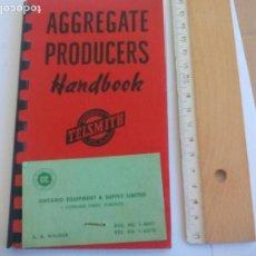 Libros de segunda mano: AGGREGATE PRODUCERS. HANDBOOK. TELSMITH, MILWAUKEE USA. 1958 SMITH ENGINEERING WORKS. Lote 150229138