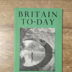 Libros de segunda mano: MFF.- BRITAIN TO-DAY.-AN AFRICAN UNIVERSITY.- NEW LITERATURE.- Nº 207 -JULY 1953.- 48 PAGINAS.-. Lote 151432414