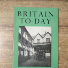 Libros de segunda mano: MFF.- BRITAIN TO-DAY.- THE THIRD BRITHIS EMPIRE.- NEW LITERATURE.- Nº 202-FEBRUARY 1953.- 48 PAGINAS. Lote 151436046