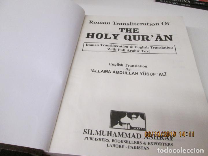 Roman Transliteration of the Holy Quran: Roman Transliteration & English  Translation With Full Arab