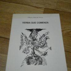 Libros de segunda mano: VERBA QUE COMENZA. MARÍA MARIÑO CAROU. EDITORIAL:ED. CONCELLO DE NOIA., 1990 PRIMERA EDICIÓN.. Lote 152374178