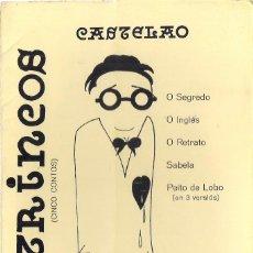 Libros de segunda mano: CASTELAO : RETRINCOS (CINCO CONTOS). EDICIONES CELTA, VIGO, 1979. Lote 153123026