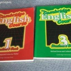 Libros de segunda mano: THE CAMBRIDGE ENGLISH COURSE 1984 Y 1987; 2 LIBROS. Lote 153741654