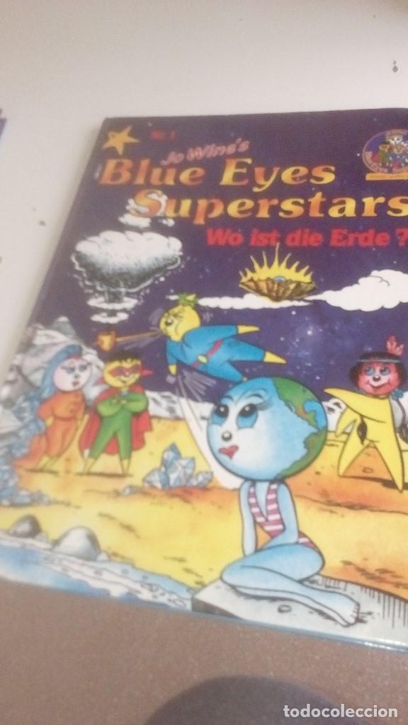 G-LANA9 LIBRO EN ALEMAN JO WINES BLUE EYES SUPERSTARS WO IST DIE ERDE (Libros de Segunda Mano - Otros Idiomas)