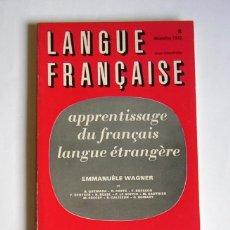 Libros de segunda mano: LANGUE FRANÇAISE - APPRENTISAGE DU FRANÇAIS LANGUE ETRANGERE - REVUE TRIMESTRIELLE Nº 8. 1970. Lote 155432366
