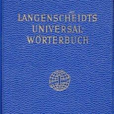 Libros de segunda mano: LANGENSCHEIDTS UNIVERSAL WÖRTERBUCH SWEDISCH-DEUTSCH / DEUTSCH-SWEDISCH. Lote 156694242