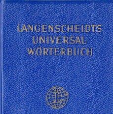 Libros de segunda mano: LANGENSCHEIDTS UNIVERSAL WÖRTERBUCH ENGLISH-DEUTSCH / DEUTSCH-ENGLISH. Lote 156696046