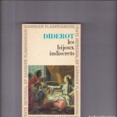Libros de segunda mano: DIDEROT - LES BIJOUX INDISCRETS - GARNIER-FLAMMARION ED. 1968. Lote 159116738