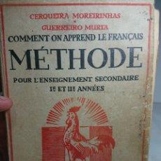 Libros de segunda mano: COMMENT ON APPREND LE FRANÇAIS METHODE, 1943, MUY ILUSTRADO. Lote 159808161