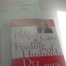 Libros de segunda mano: G-22YO7 LIBRO EN INGLES THE PROPER CARE Y FEEDING OF HUSBANDS DR LAURA SCHLESSINGER . Lote 160810374